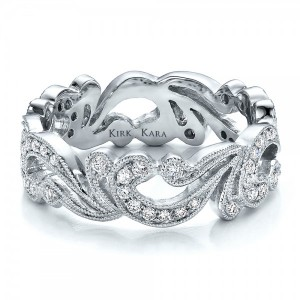 Filigree and Diamond Women's Eternity Band - Kirk Kara