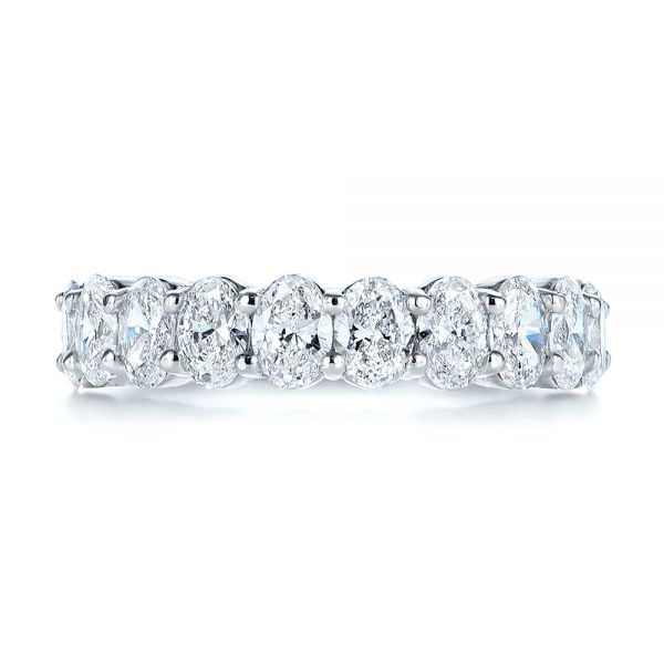Oval Diamond Half Eternity Wedding Band 105318 Seattle Bellevue Joseph Jewelry