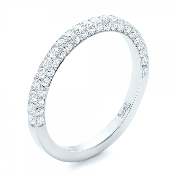 full bands pave rings twined three mazal diamond ring band