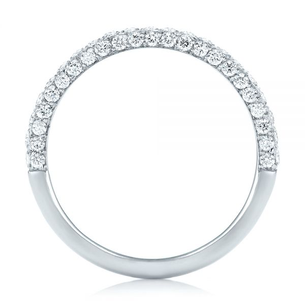 18k White Gold 18k White Gold Pave Diamond Wedding Band - Front View -  102559