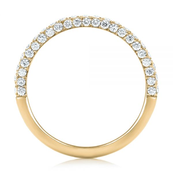 14k Yellow Gold 14k Yellow Gold Pave Diamond Wedding Band - Front View -  102559