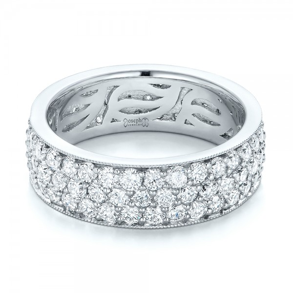 Pave Diamond Women's Anniversary Band - Laying View