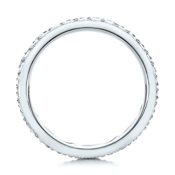 Pave Diamond Women's Anniversary Band - Finger Through View