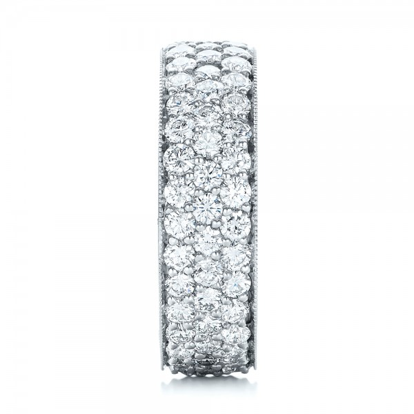 Pave Diamond Women's Anniversary Band - Side View