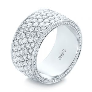 Pave Diamond Women's Anniversary Band - Image