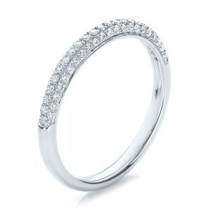 Pave Set Diamond Wedding Band - Image