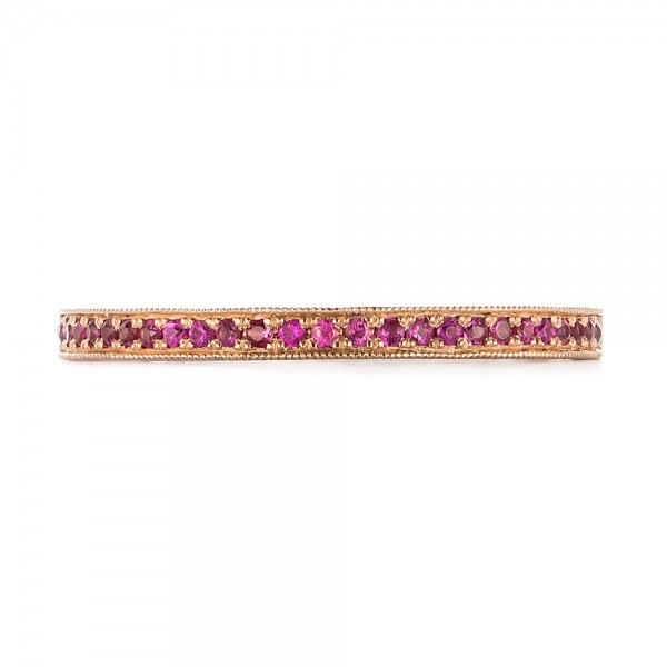 Pink Sapphire Wedding Band - Top View