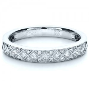 Princess Cut Diamond Women's Wedding Band