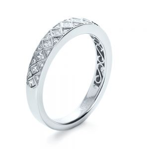Princess Cut Diamond Women's Wedding Band - Image
