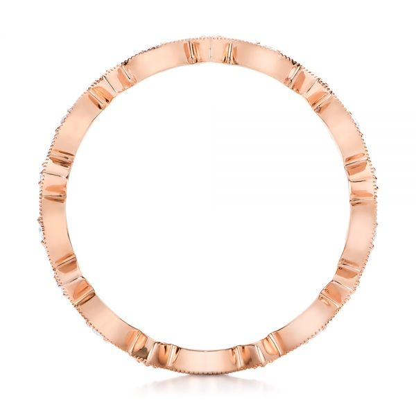 Rose Gold Diamond Stackable Eternity Band -  101897