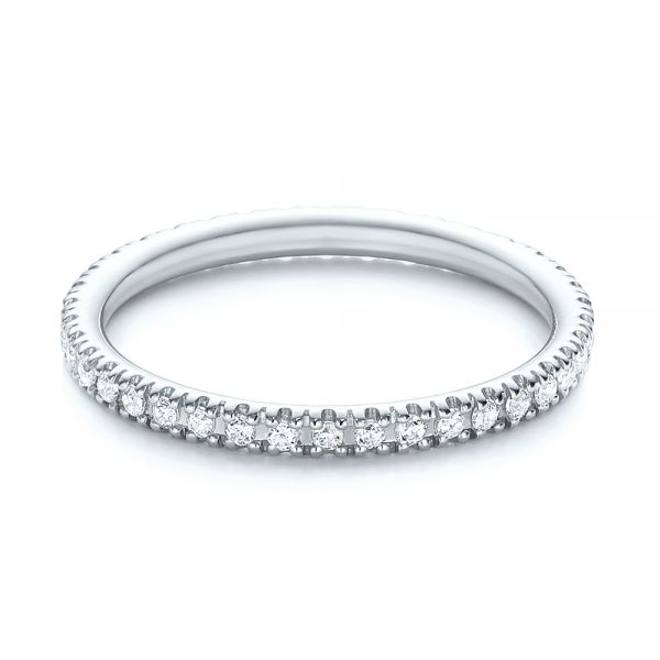 14k White Gold 14k White Gold Diamond Stackable Eternity Band - Flat View -  101927