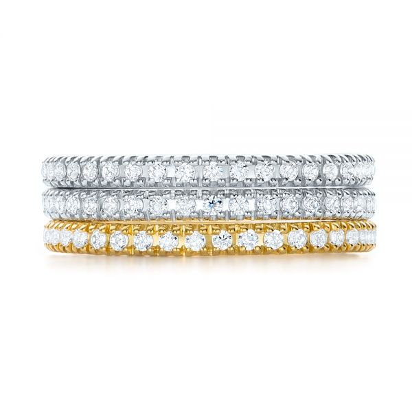 14k White Gold 14k White Gold Diamond Stackable Eternity Band - Front View -  101927