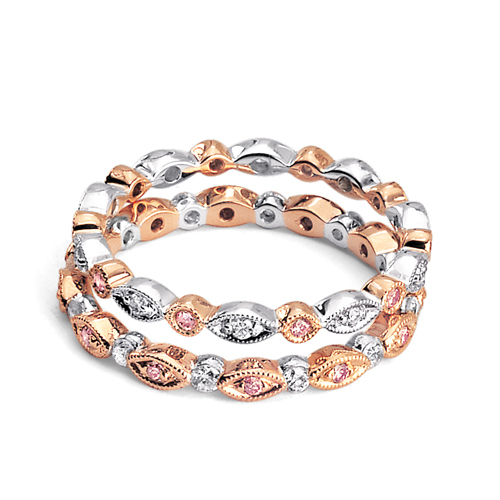 ... › Women's Wedding Rings › Rose Gold and Diamond Wedding Bands
