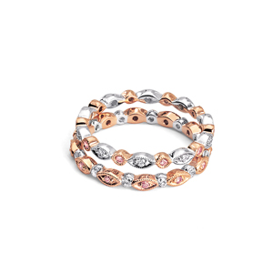 Rose Gold and Diamond Wedding Bands
