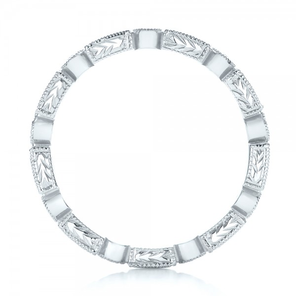 Round and Baguette Diamond Stackable Eternity Band - Front View -  101945 - Thumbnail