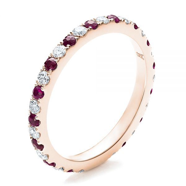 Ruby Band with Matching Engagement Ring - Image