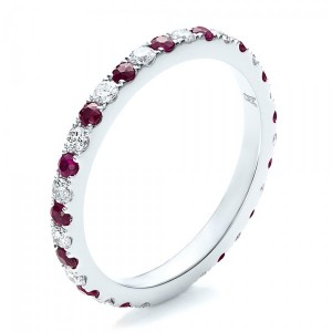 Ruby Band with Matching Engagement Ring
