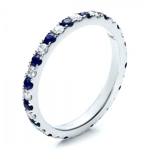 Sapphire Band with Matching Engagement Ring