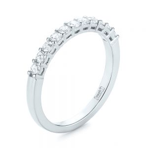 Shared Prong Basket-set Diamond Wedding Band - Image