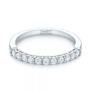 Shared Prong Basket-set Diamond Wedding Band