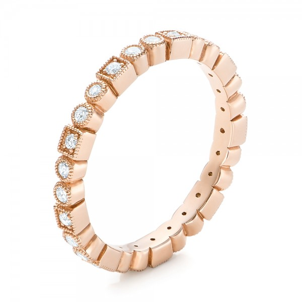 Rose Gold Diamond Stackable Eternity Band