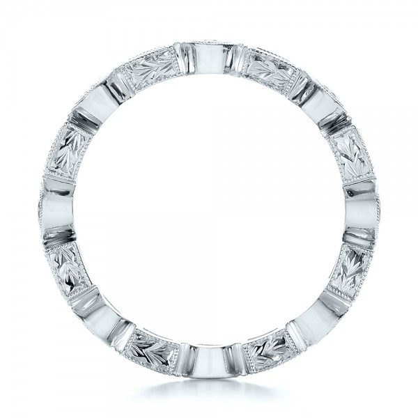 Stackable Diamond Eternity Band - Finger Through View
