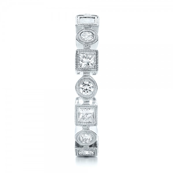 Stackable Diamond Eternity Band - Side View