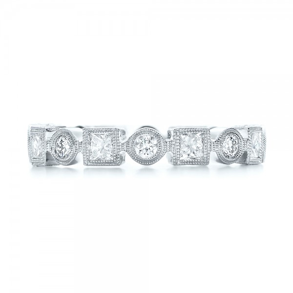 Stackable Diamond Eternity Band - Top View