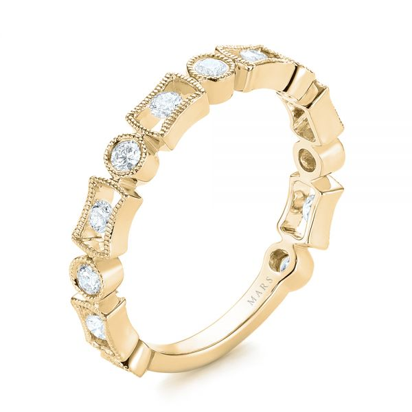 18k Yellow Gold 18k Yellow Gold Stackable Women's Wedding Band - Three-Quarter View -  103667