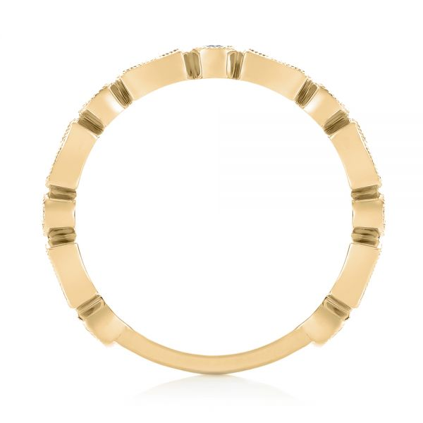 18k Yellow Gold 18k Yellow Gold Stackable Women's Wedding Band - Front View -  103667