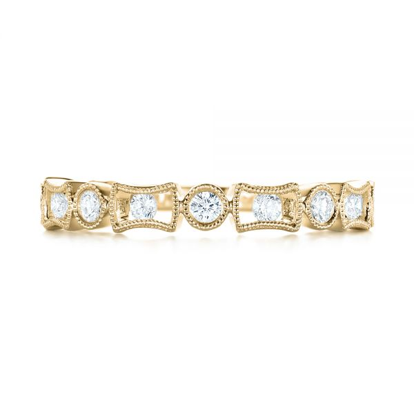 18k Yellow Gold 18k Yellow Gold Stackable Women's Wedding Band - Top View -  103667