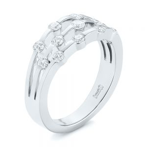 Tension Set Diamond Women's Anniversary Band - Image