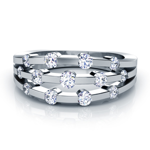 Tension Set Diamond Women's Anniversary Band