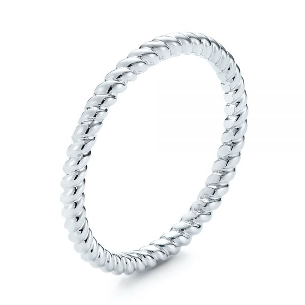 Textured Women's Wedding Ring - Image