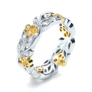 Two-Tone Diamond Women's Anniversary Band - Image