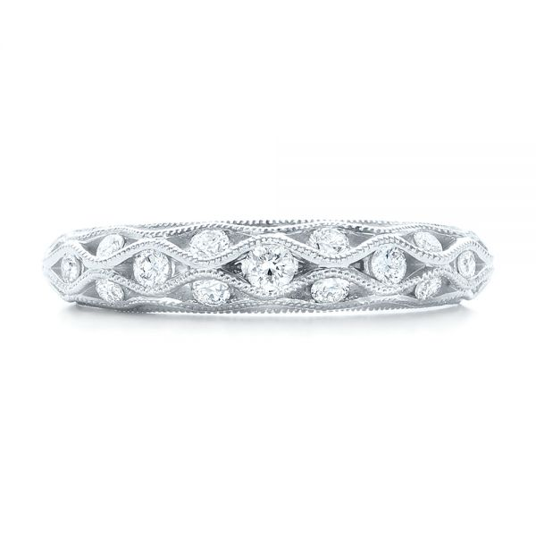 Vintage Diamond Wedding Band - Top View -  102531 - Thumbnail