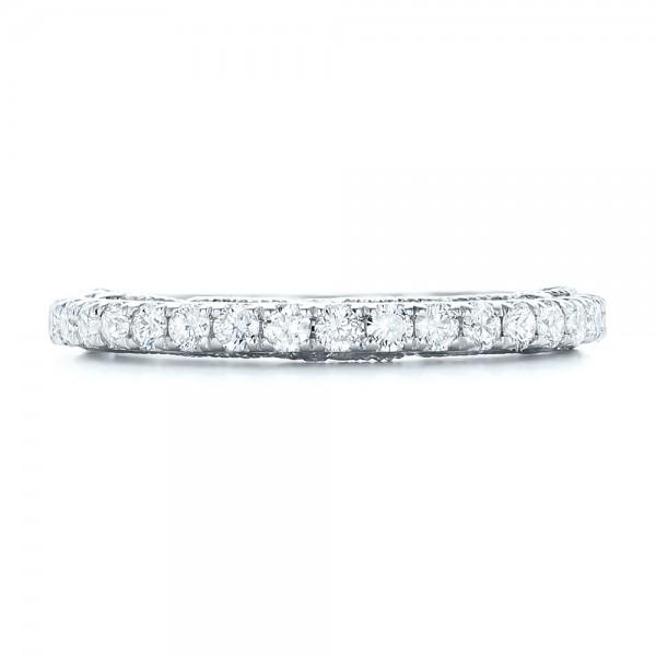 Vintage Diamond Wedding Band - Top View
