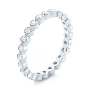 White Gold Stackable Diamond Eternity Band - Image