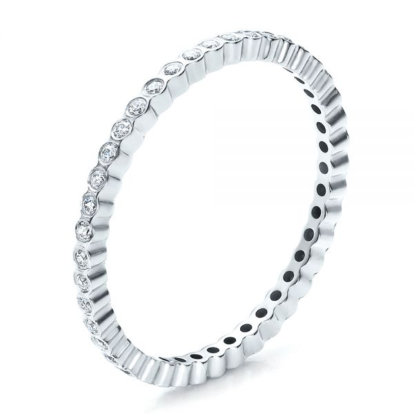 Women's Bezel Set Diamond Eternity Band - Image