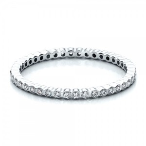 Women's Bezel Set Diamond Eternity Band