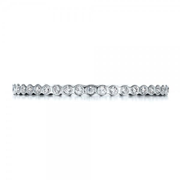 Women's Bezel Set Diamond Eternity Band - Top View