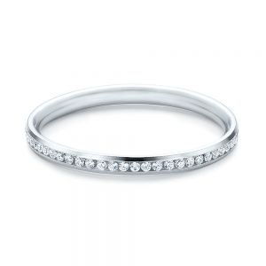 Women's Channel Set Diamond Eternity Band