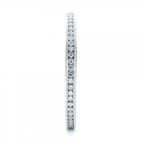 Women's Channel Set Diamond Eternity Band - Side View -  100140 - Thumbnail