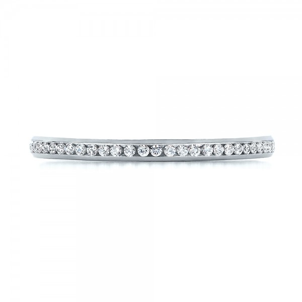 Women's Channel Set Diamond Eternity Band - Top View -  100140 - Thumbnail