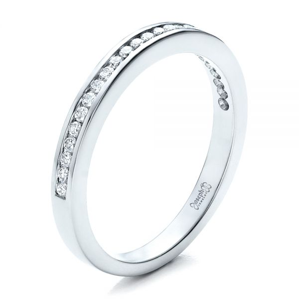 Women's Channel Set Wedding Band - Image