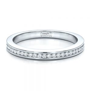 Women's Channel Set Wedding Band