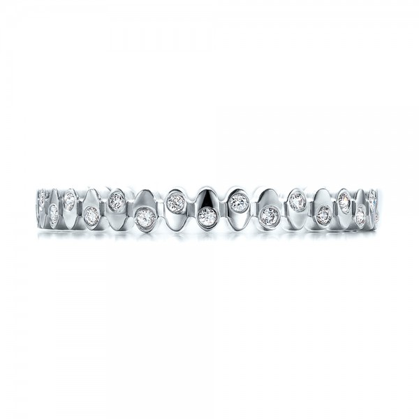 Women's Contemporary Diamond Eternity Band - Top View