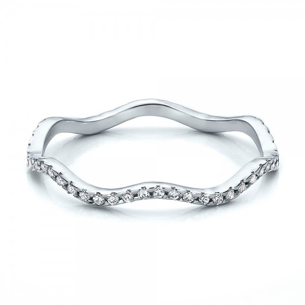 Women's Diamond Eternity Band - Laying View