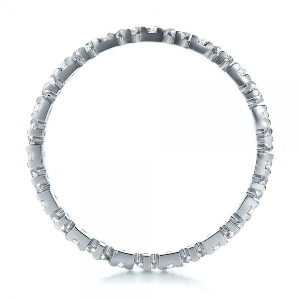 Women's Diamond Eternity Band - Finger Through View