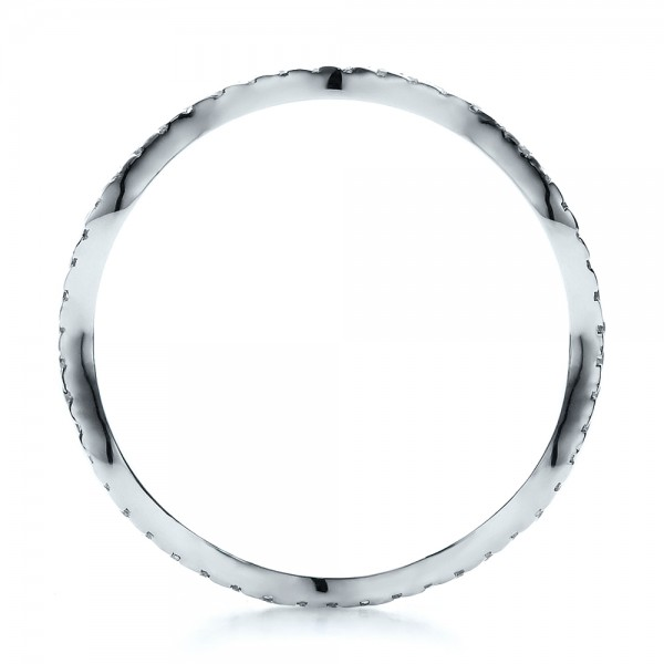 Women's Diamond Eternity Band - Finger Through View